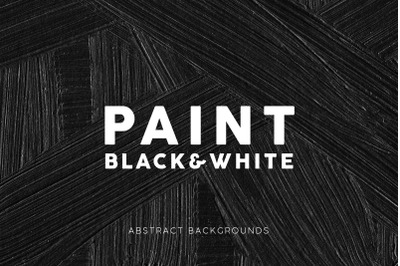 Black and White Paint Textures