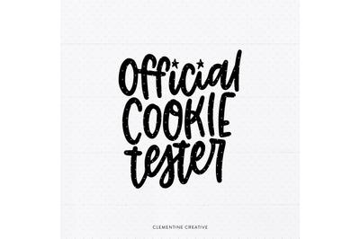 Christmas Shirt SVG   Official Cookie Tester SVG   Christmas Baking SV