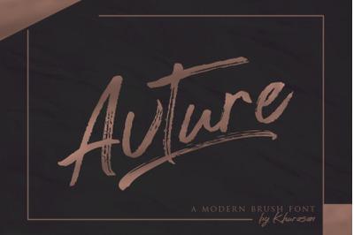 Avture Brush Font