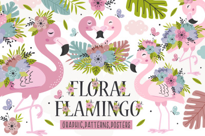 Floral Flamingo collection