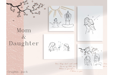 """""""Mother & Daughter"""" Graphic Pack"""