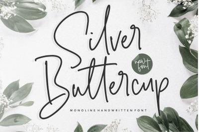 Silver Buttercup Monoline Handwritten Font