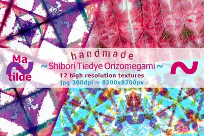 Handmade Shibori Tiedye Orizomegami Textures