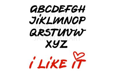 Vector set of english alphabet lettering