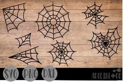 Spider webs, bundle, SVG, PNG, DXF