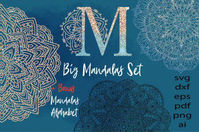 Mandalas Big Set  svg