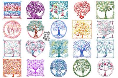 Watercolor Tree of Life Clip Art