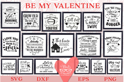 Be my Valentine SVG Pack