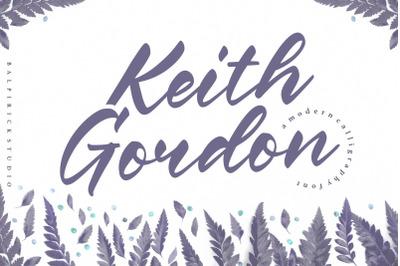 Keith Gordon Modern Calligraphy Font