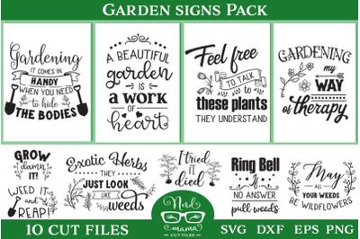 Garden Signs Cut Files Pack