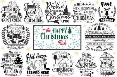 Happy Christmas Cut Files Pack - July PROMO!!