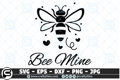 Bee Mine SVG cut file Happy bee SVG, Bee floral SVG