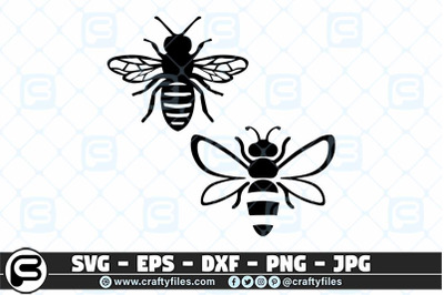 Bee insect SVG Cut file, Happy bee SVG, Be kind SVG
