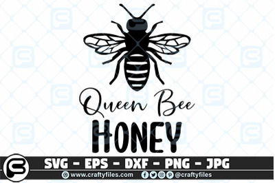 Queen bee honey SVG cut file, Bee SVG, Honey SVG