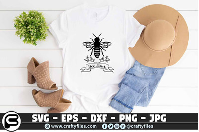 bee kind SVG, laurel floral SVG, Bee Happy SVG Bee SVG