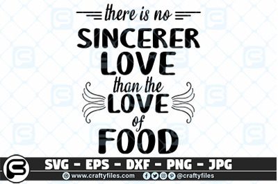 there is nor sincerer love than the love of food SVG, Foods SVG, Food