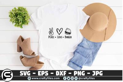 Peace love burger SVG, Food SVG, Peace SVG, Love SVG