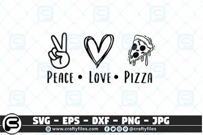 Peace love pizza SVG Food SVG, Peace SVG, Love SVG
