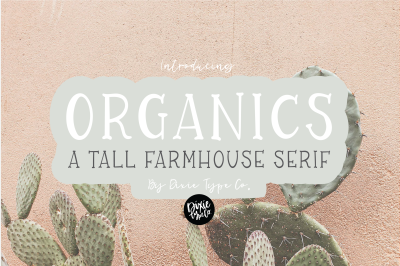 ORGANICS a Farmhouse Serif Font