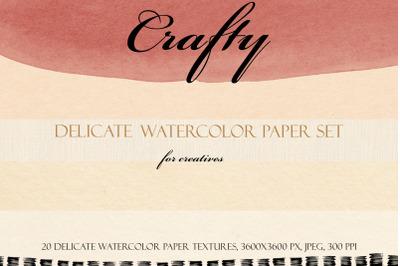 Crafty Delicate Watercolor Paper Set