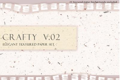 Crafty V.2 Elegant Textured Paper Set