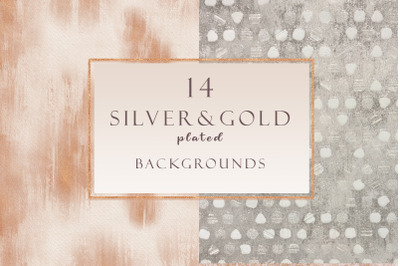 Gold&Silver plated backgrounds set