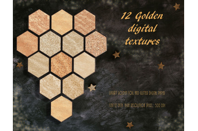 Luxury Metallic Gold foil and glitter textures