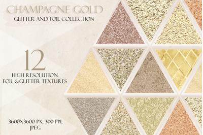 Champagne Gold Glitter, Soft gold glitter, Ivory glitter