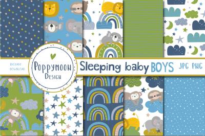 Sleeping Baby Boy paper