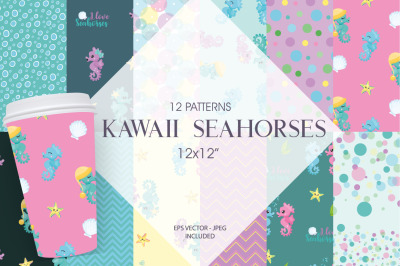 Kawaii Seahorses