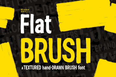 Flat Brush Font - Textured and Hand-made Type