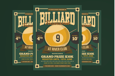 Billiards Tournament Flyer