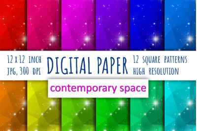 Galaxy digital paper.  Abstract background