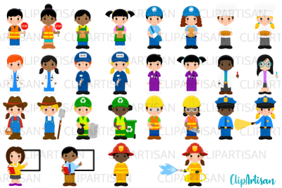 Community Helpers Clipart, Jobs, Professions, Occupations