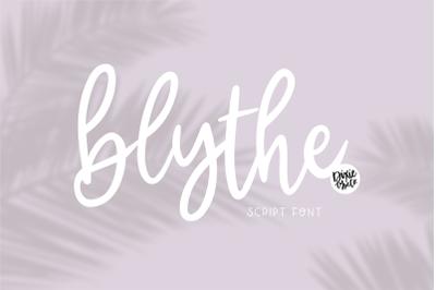 BLYTHE Hand Lettered Script Font