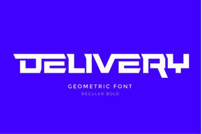 Delivery Font with lowercase letters