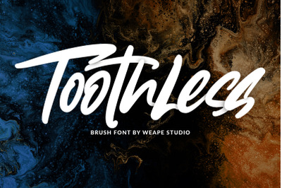 Toothless - Brush Font