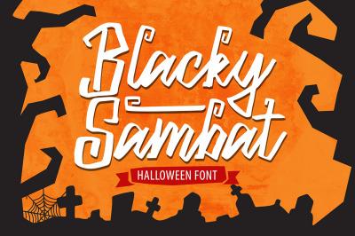 Blacky Sambat - Halloween Font