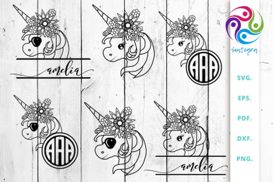 Floral Unicorn Mini Bundle Svg vol 1