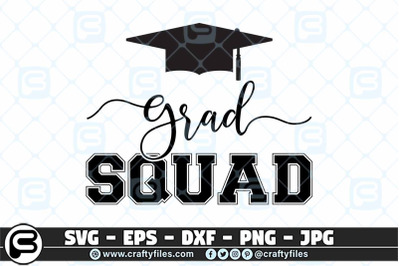 Graduation SQUAD SVG school graduated SVG cut files