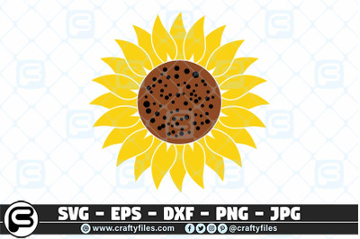 Sunflower SVG  yellow Sunflower SVG cut files EPS Png DXF