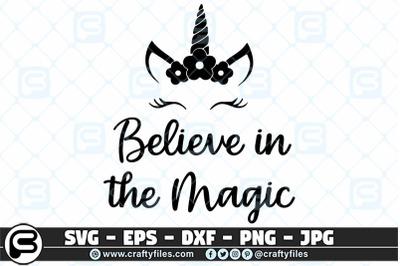 Believe in the magic unicorne SVG Cut file