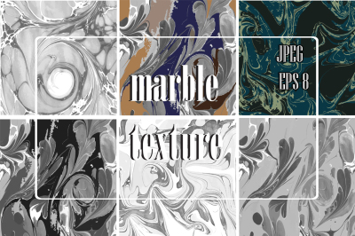 6 Hand drawn marble texture.