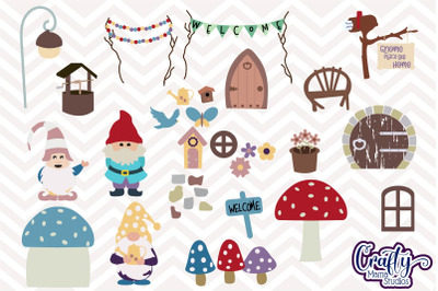 Create Your Own Gnome Home SVG Cut File, Gnome Fairy House
