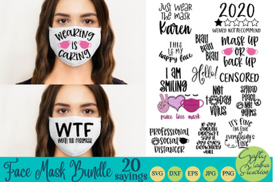 Face Mask Svg Bundle, Face Mask Quotes, Funny Face Mask Svg
