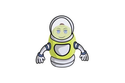 Ambarella Fruit Astronaut Cartoon Character