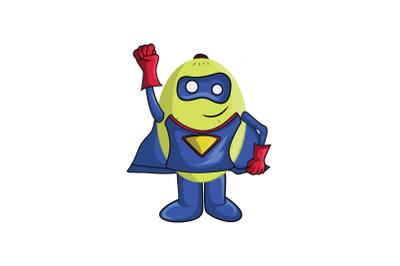 Ambarella Fruit Superhero Cartoon Character
