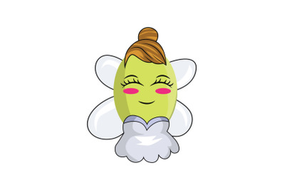 Ambarella Fruit Fairy Cartoon Character
