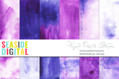 Watercolor Textures - Mystic Purple Collection