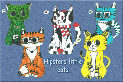5 Little Hipsters Cats.